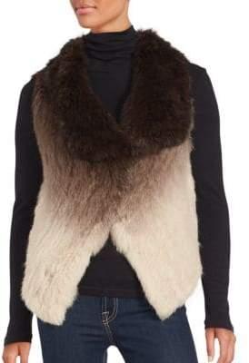La Fiorentina Ombré Rabbit Fur Vest