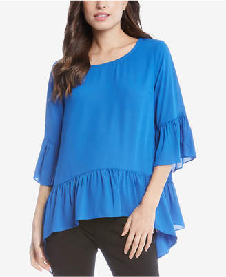 Karen Kane Ruffled Bell-Sleeve Top