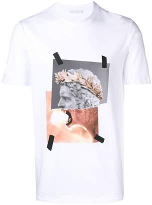 Neil Barrett roaring statue printed T-shirt