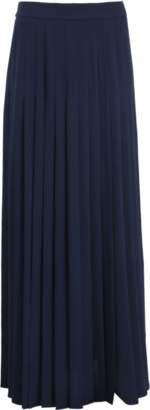 Michael Kors Slashed Pleated Long Skirt
