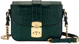 Miu Miu St. Cocco Alligator -Embossed Crossbody Bag