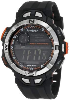 Armitron Sport Men's 408233ORG Chronograph Multi-Function Orange Accented Resin Watch