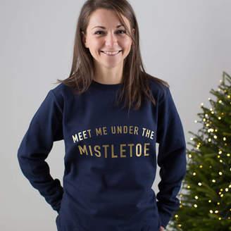 ad5dc73c1e6a29 Twenty-Seven Meet Me Under The Mistletoe Christmas Jumper
