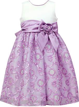 Jayne Copeland Satin Soutache Sequin Dress, Toddler Girls