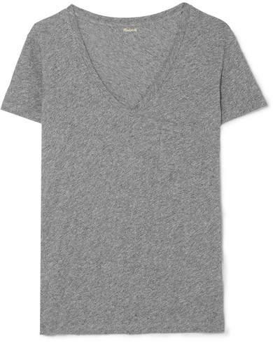 Madewell - Whisper Slub Cotton-jersey T-shirt - Gray