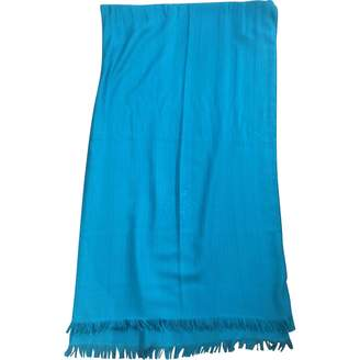 Hermes Turquoise Cashmere Scarves