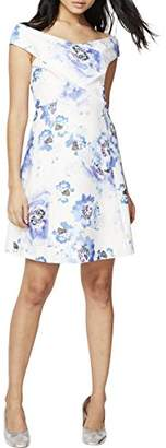 Rachel Roy Women's Printed Off The Shoulder Fit and Flare