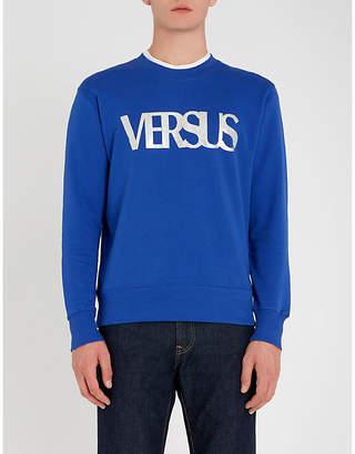 Versace Versus Logo-print cotton-jersey sweatshirt