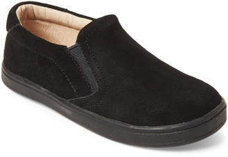 Old Soles Toddler/Kids Boys) Black Dress Hoff Suede Slip-On Sneakers