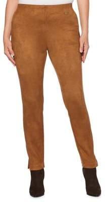 Rafaella Petite Faux-Suede Skinny Trousers