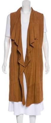 LaMarque Collection Suede Longline Vest