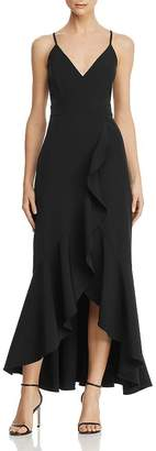 Laundry by Shelli Segal Ruffled High/Low Gown