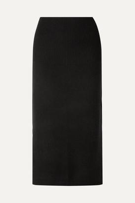 Allude Cashmere Midi Skirt - Black