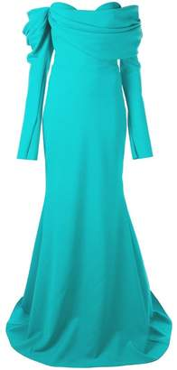 Christian Siriano off-the-shoulder gown