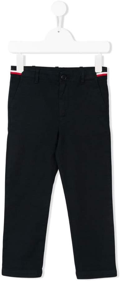 stripe detail trousers