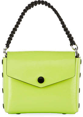 Rag & Bone Atlas Patent Shoulder Bag, Bright Green