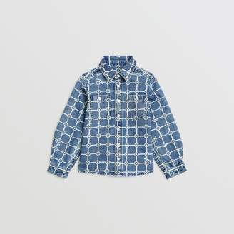 Burberry Flower Print Cotton Linen Shirt