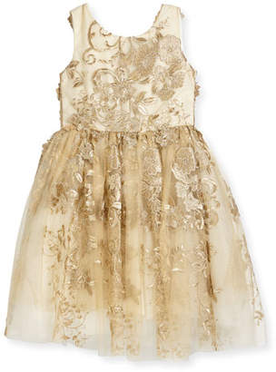 Zoe Goldie Textured Tell Party Dress, Size 7-16