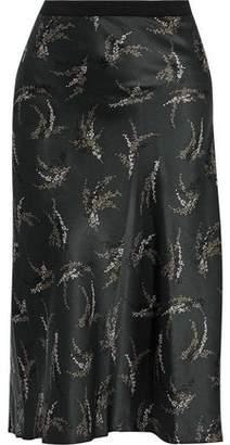 Vince Printed Silk Skirt