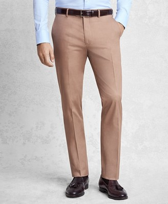 Brooks Brothers Golden Fleece Cotton and Cashmere Gabardine Trousers