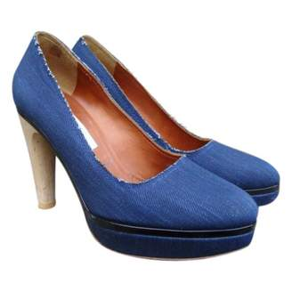 Lanvin Blue Cloth Heels