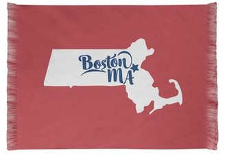 East Urban Home Boston Sports Colors Light Coral Area Rug East Urban Home
