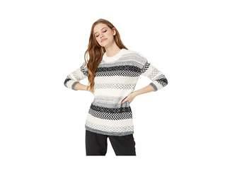 BB Dakota Sundance Mixed Stripe Novelty Sweater