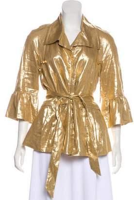 Lafayette 148 Metallic Long Sleeve Jacket