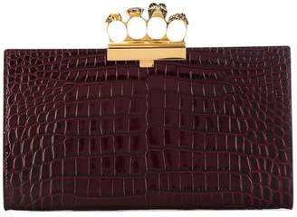 Alexander McQueen four ring flat clutch