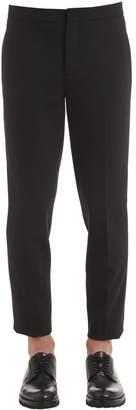 Neil Barrett Gabardine Stretch Wool Pants W/ Stripes