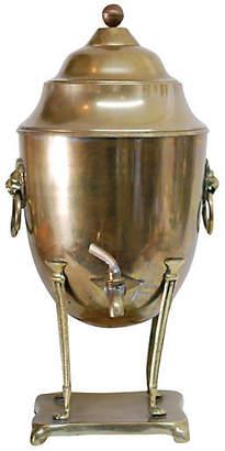 One Kings Lane Vintage Brass Standing Coffee Urn