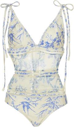 Zimmermann Verity Mesh-Paneled One-Piece Swimsuit