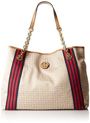 Tommy Hilfiger Web Jacquard Tote Bag $92.91 thestylecure.com