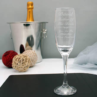 GiftsOnline4U Engraved Champagne Flute For The Father Of The Bride
