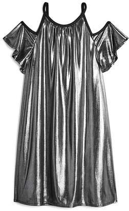 Sally Miller Girls' Metallic Cold-Shoulder Dress - Big Kid