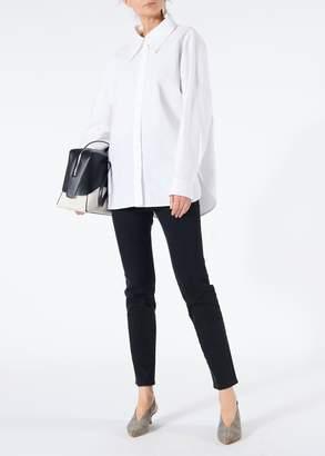 Tibi Watts Oxford Easy Shirt with Zipper Detail