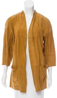 Etro Suede Open Front Jacket