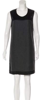 Stella McCartney Wool-Paneled Satin Dress