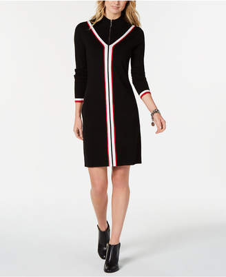 Tommy Hilfiger Zip-Front Iconic Sweater Dress