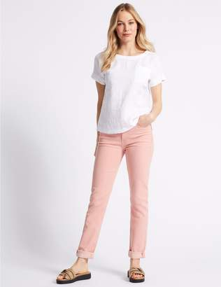 Marks and Spencer Relaxed Slim Mid Rise Jeans