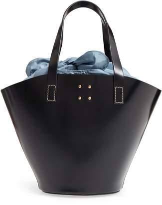 TRADEMARK Large Leather Bucket Bag