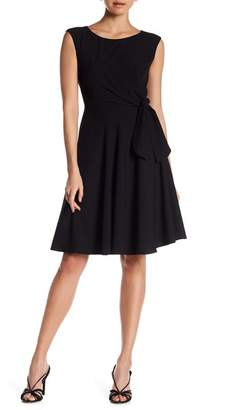 Tahari Sleeveless Crepe Fit & Flare Dress