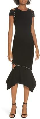 Alice + Olivia Ameera Studded Midi Dress