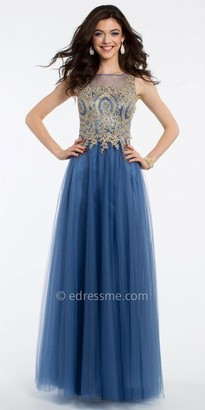 Camille La Vie Applique Tulle Ball Gown Prom Dress $200 thestylecure.com