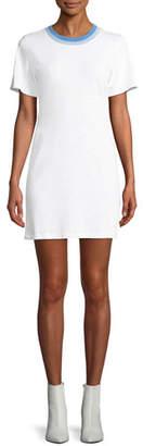 Rag & Bone Jolie Crewneck Mini-Length Tee Dress
