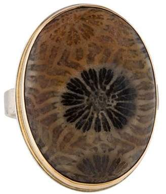Jamie Joseph Two-Tone Fossilized Coral Ring