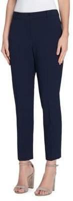 Tahari Arthur S. Levine Belt-Trim Skinny Crepe Pants