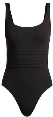Eres Les Essentiels Asia Duni Ribbed Swimsuit - Womens - Black