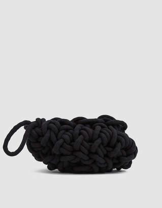 Alienina Woven Clutch in Black