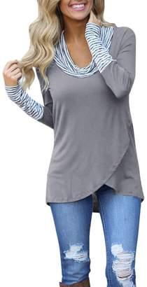 Amzeca Women Sweatshirt Pullover Tops Blouse Shirt Long Sleeve O-Neck Stripe Novelty Hoodies Fashion Sweaters Sport Autumn Winter Women's Shops Casual Warm Outwear Jacket Coat